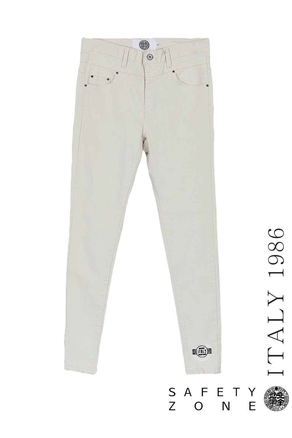 [BL P] ANCKLE WP PANTS (WHITE)