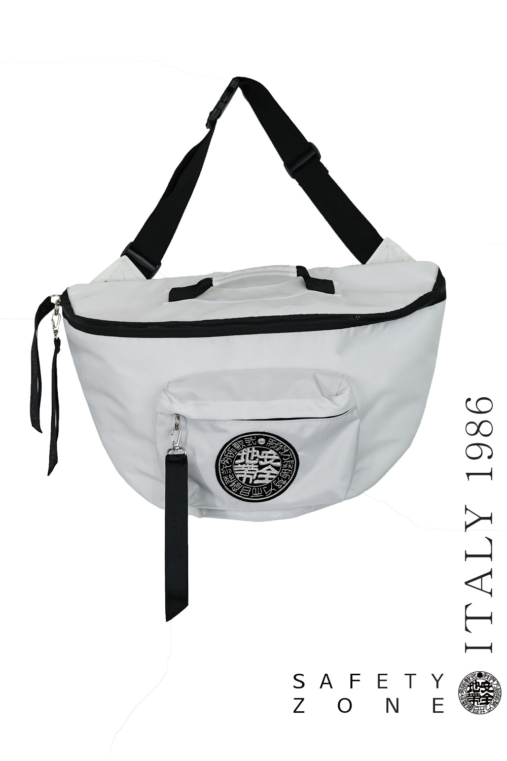 BIG LOGO KYERING MESSENGER BAG (WHITE)